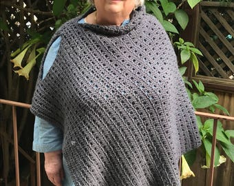 Asymmetrical Adult Poncho