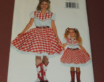 Uncut all Sizes Butterick 4656 Mother and Daughter Costume Pattern