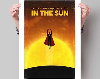 "SUPERMAN Inspired Man of Steel Minimalist Movie Poster Print - 13""x19"" (33x48 cm)"