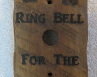 Ring Bell For the Hounds Pyrographic Door Bell Made to Order by Shannon Ivins Pigatopia