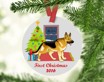 German Shepard Ornament - German Shepard - German Shepard First Christmas Ornament - German Shepard Christmas Ornament -