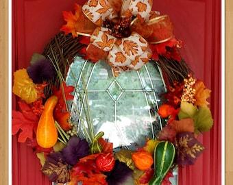 Pumpkin Gord Autumn Wreath
