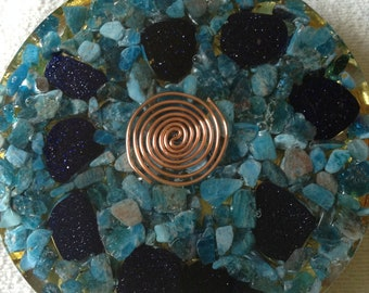 "Orgone Charging Plate ~ ""Deep Blue""~ Healing ~ Reiki Charged"