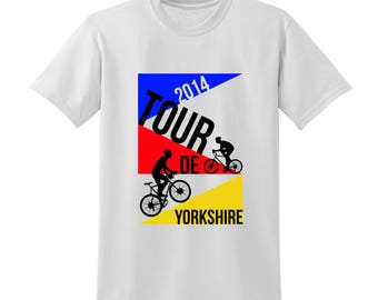 Tour De Yorkshire Tshirt Commemorative Bike Race Cycling France Competition