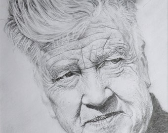 SALE - Pencil portrait of David Lynch