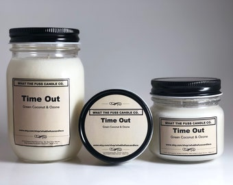 Time Out | Green Coconut & Ozone | 100% Soy Wax | Hand Poured