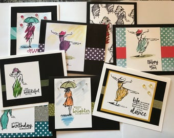 Set of 8 Handmade Cards