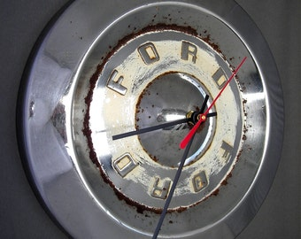 1959 Ford Hubcap Clock - Classic Car Clock