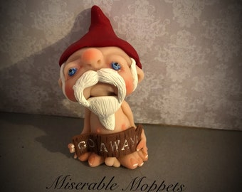 GNOME mini moppet. Ooak, one of a kind, ooak doll, handmade sculpture, gothic art doll, polymer clay sculpture