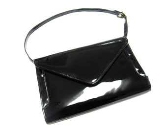 Black Purse Patent Leather Glossy Shoulderbag Ande