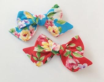 Floral Pinwheel Bow
