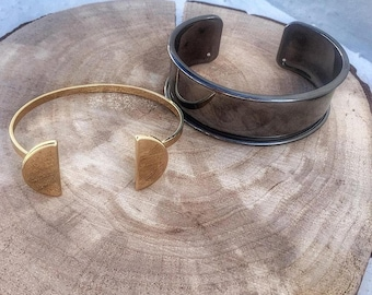 Bangles Stacking Bracelets Women Cuff Bracelet In Silver Anthracite Or Gold Gifts For Her New