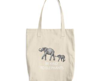 Cotton Tote Bag Be Kind to Elephants
