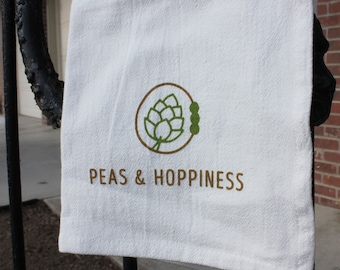Peas & Hoppiness Kitchen Tea Towel