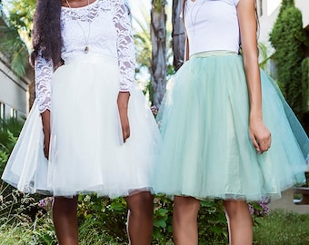 Carrie Bradshaw Tutu Tulle Skirt, Knee length/Midi in Sage/Olive Green Bridesmaids