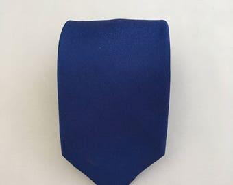 Japanese Kimonos Silk Necktie for Men - Mens Blue Tie - Necktie Made in Japan - Birthday Gift Men - Nice Tie - Men's Gift -