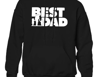 Best Dad Father's Day Daddy Dad Role Model Dada Nonno Holiday Gift Idea Present Men's Hoodie SF-0317