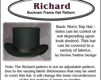 DN013 - Richard Men's Top Hat Pattern - Victorian Era or Steampunk Inspired Sewing Pattern by Denise Nadine