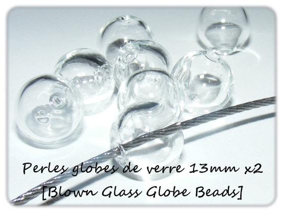 2 perles globes 13mm