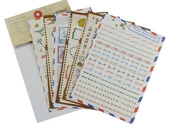 1 Set (6 Sheets Per Set), Deco Vintage Stamp Sticker