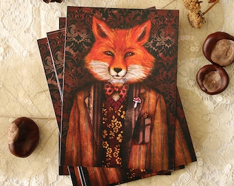 Postcard - Portrait of The Mysterious Lord Fox