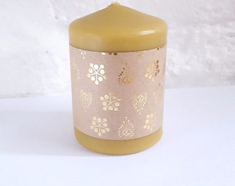 Beeswax Candle - Pillar Candle - Mother's Day Gift- House Warming Gift - Natural Scent - Purifying Candle - Hygge - Yoga Candle - Meditation