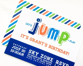 Jump Collection. Invitation. PERSONALIZED. DiY Printable Design. Pinkadot Shop