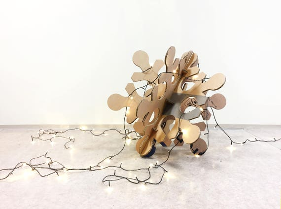 Giant snowflake decoration, recycled cardboard, winter party decor, holiday decor, shop window decor, party supply