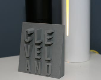 Cleveland Wedge 3D Printed Sign