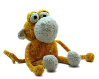 Knitting Pattern Anthony the Monkey Pdf INSTANT DOWNLOAD