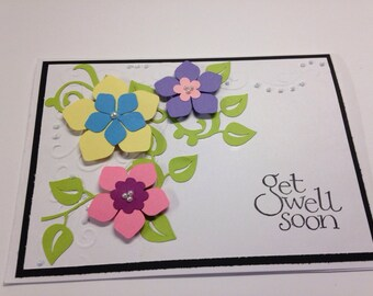 Get Well handmade greeting Card with envelope
