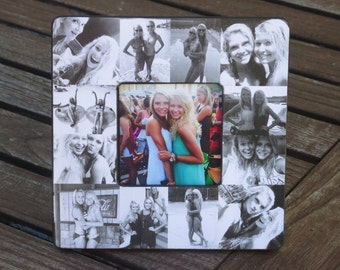 Personalized Sister Gift, Maid of Honor Collage Picture Frame, Custom Bridesmaid Gift, Best Friends Collage Frame, Birthday Gift, Graduation