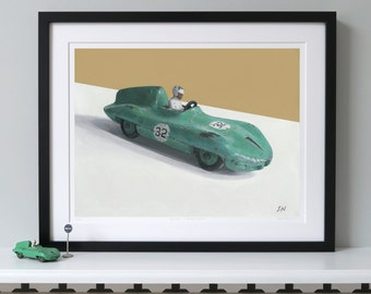 Dinky Connaught  Print, Classic car print, Racing car print, Car art, Car print, Dinky toys, Toy car,Limited edition print–DINKY RACING CARS