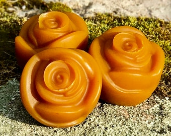 Cardamon Rose Cedar Handcrafted Triple Butter Vegan Soap with French Yellow Clay