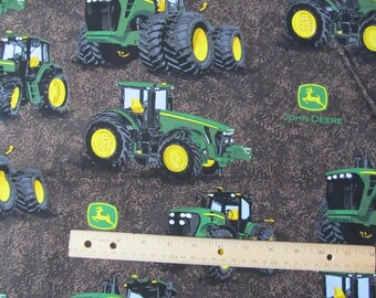 Brown John Deere Tire Tread Tractor Fabric by the Yard