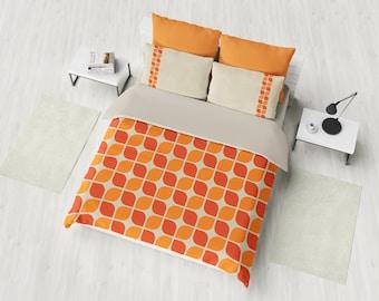 Retro Bedding Set, Retro Duvet Cover Set, Modern Geometry Bedding, Mid  Century Bedding