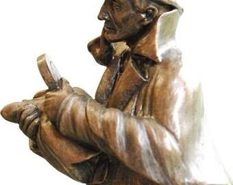 Sherlock Holmes Standing Figurine Sculpture Statue Collectible