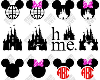 Mickey Head svg - Disney Castle svg - Mickey, Disney Castle digital clipart for Print, Design or more , files download svg, png, dxf