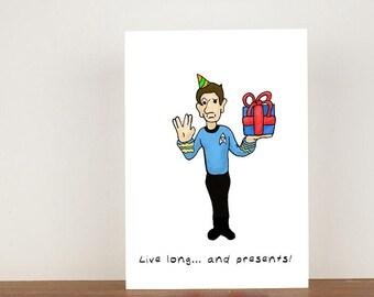 Spock birthday card etsy star trek birthday card card greeting card birthday card birthday spock bookmarktalkfo Image collections
