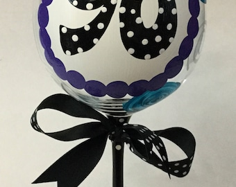 90th Birthday Giant Wine Glass