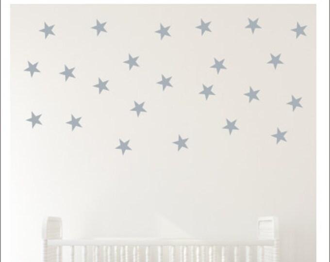 Star Wall Decals Peel and Stick Stars Vinyl Decals Star Decor Nursery Decals Bedroom Stars Accent Wall Stars Gold Wall Decals Silver Stars