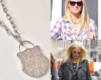 Pave Diamond Padlock Necklace