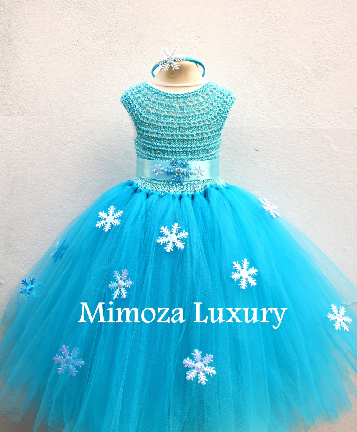 Elsa Deluxe Princess dress, turquoise tutu dress, frozen themed ...