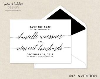 Speichern Sie die Datum-Einladung, einfache schicke Einladung, sparen das Datum, Hochzeit Ankündigung, Hochzeit Design, Lauren Haddox Design