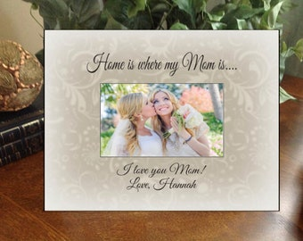 Personalized Any Message Photo Frame Mother's Day Wedding Mother of the Bride Grandma Best Friend