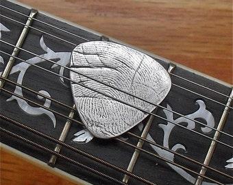 Fingerprint Pick - Custom Fine Silver Guitar Pick