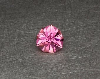 Bright Pink Tourmaline Loose Natural and Untreated Modern Round Trillion Faceted Gemstone