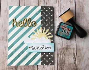Hello Sunshine Handmade Greeting Card