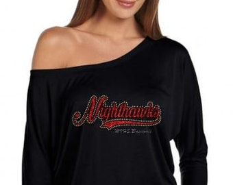 MV Baseball Nighthawks # Off- shoulder Dolman Top