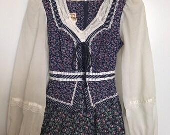 Gorgeous Vintage 70's Gunne Sax Prairie Dress